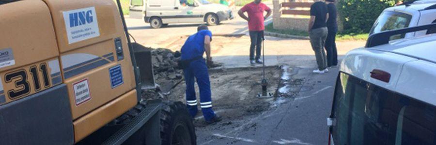 Obvestilo – nujna vzdrževalna dela na cestišču pred Kulturnim domom