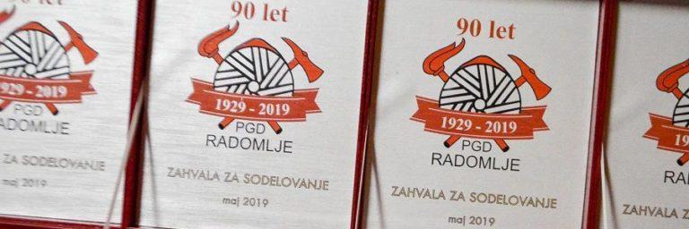 90 let društva PGD Radomlje